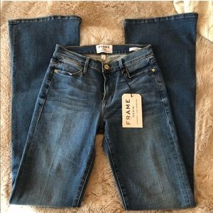 NWT Frame Le High Flare dark wash jeans